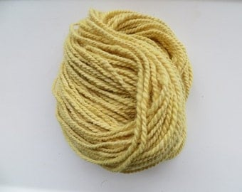 Merino and Alpaca Yarn, Hand Spun Yarn, Bulky, Naturally Dyed with Onion Skins and Golden Rod 2 ply 7.3 oz