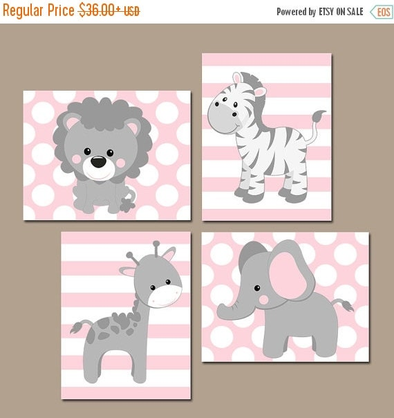 Baby girl nursery wall art pink gray nursery artwork by for Chambre 8x10