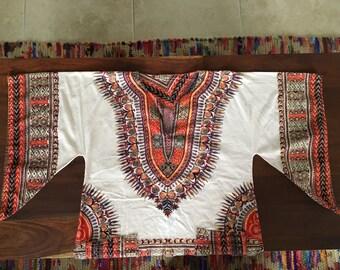 vintage batik bell sleeve dashiki tunic caftan