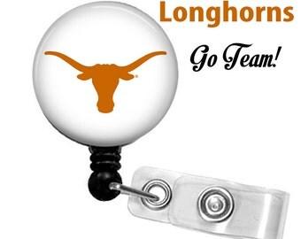 Collegiate id reel, Mylar covered, Texas