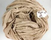 RESERVED FOR CINDY, Chiffon Sari Ribbon, chiffon sari ribbon, taupe ribbon, Taupe chiffon sari ribbon, Taupe sari ribbon, tassel supply