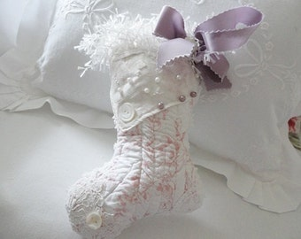 Sweet little Quilted Christmas Stocking with Lavender scent!
