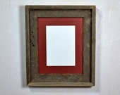 Eco friendly 8 x 10 photo frame from reclaimed wood with 5 x 7 or 8x6 mat.