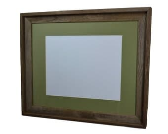 16x20 picture frame with sage green mat for 11x14 print or photo
