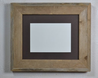 8 x 10 gallery style reclaimed wood frame with 8x6 or 5x7 mat