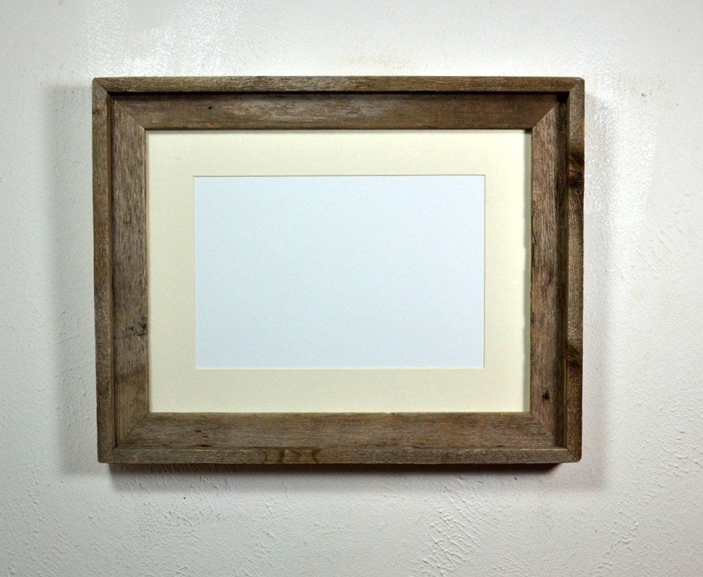 12x16 Picture Frame From Reclaimed Wood With Beautiful Patina