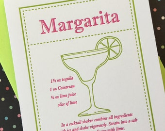 Letterpress Card - Margarita