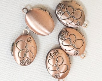 10 pcs of Antique copper plated brass Oval Locket Pendant 11x16mm, Antique copper photo frame locket, very small locket
