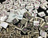 75 Vintage Pink and Black  Mosaic Supply Broken China Tiles