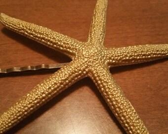 Gold Starfish Hair Pin