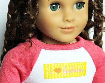 Fits like American Girl Doll Clothes - I Love Fashion Tee and Print Leggings