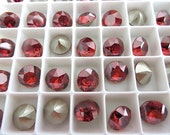 12 Red Magma Swarovski Crystal Chaton Stone 1088 39ss 8mm