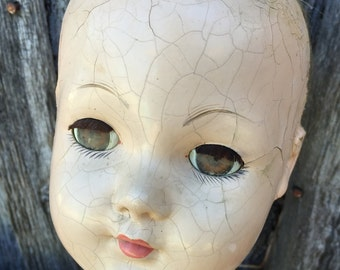 Vintage Creepy EFFANBEE Composition Doll with Sleepy Eyes