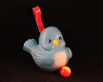 Vintage Bluebird Hanging Musical Toy for Baby
