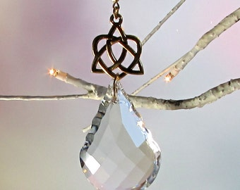 Celtic Heart Crystal Sun Catcher & Christmas Ornament