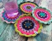 Crochet Coasters Boho Gypsy Inspired