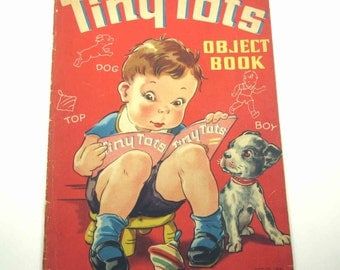 Tiny Tots Object Book Vintage 1940s Oversized Children's Book
