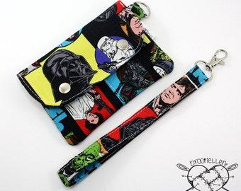 Wallet Wristlet Clutch SMALL Star Wars Vintage Darth Vader