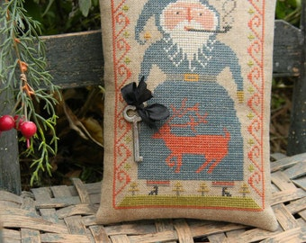 Blue Belsnickle  cross stitch PAPER PATTERN - from Notforgotten Farm