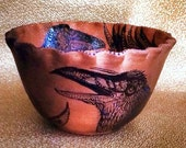 Big Raven Blessing Bowl of Mica Clay from New Mexico