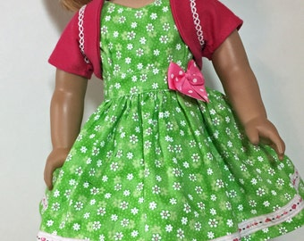 18 Inch Doll Clothes fits American Girl Mint Green Darling Daisy Outfit