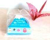 Masking tape - washi tape - Traditional Japanese them - Blue