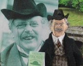 G.K. Chesterton- Author Writer-  Historical Doll- Geek Art- Literary Collectible