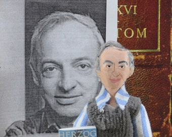 Saul Bellow Doll Miniature Author Writer Unique Art Collectible