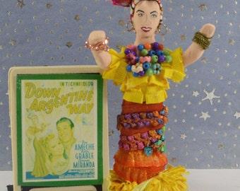 Carmen Miranda Doll Miniature Old Hollywood Movie Star Mini Diorama