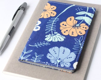 Blue Floral Fabric Checkbook Holder, Teacher Gift Idea Under 25