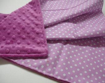 Tulip Dots Minky Receiving Blanket 20 x 25 READY TO SHIP