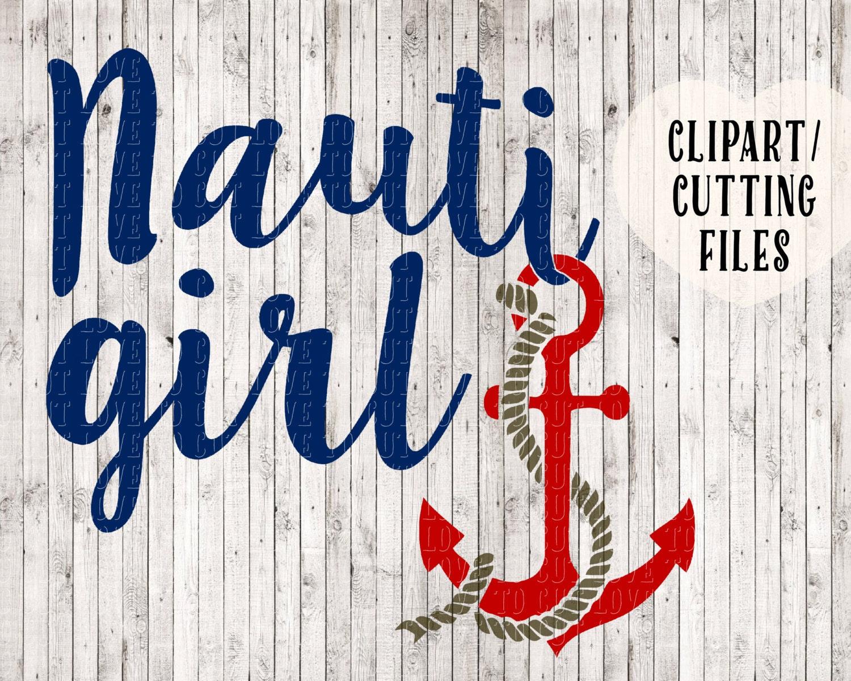 nauti girl svg anchor svg nautical svg boat svg boating. Black Bedroom Furniture Sets. Home Design Ideas