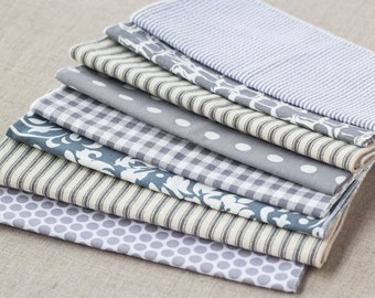 Gray Color Cloth Napkins by Dot and Army- set of six