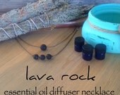 lava rock essential oil diffuser / EO necklace / aromatherapy / handspun / waterproof / kidproof / lifeproof / roping necklace