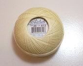 Yellow Tatting Thread, Lizbeth Size 20 Cotton Crochet Thread, Light Golden Yellow, Color number 612, Yellow Thread