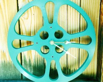 Clock, Movie Reel Clock, Wall Clock, 16mm Metal Movie Reel Clock, Recycled, Upcycled Gift Item #8