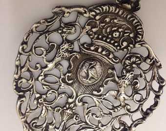 Pre-1905 Dutch Sterling Silver Bon Bon Spoon with Lions
