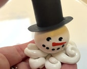 Little Octopus Snowman with Black Tophat