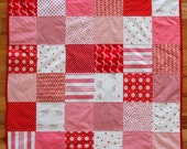 Patchwork Baby Quilt, Modern Baby, Minky Blanket, Toddler, Child