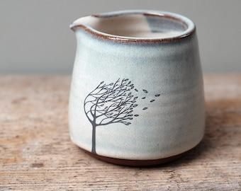Blue Ceramic Windy Tree Pourer
