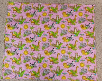 Zoo animals baby/crib quilt- REDUCED