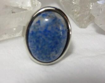 Sodalite Round Adjustable Ring Healing Stone Ring Reiki Energy Healing Crystal Statement Ring lot a