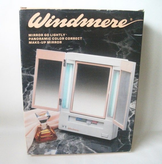 Vintage Windmere Mirror Go Lightly Vanity Makeup Mirror Lights