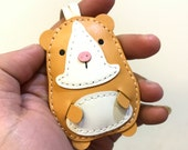 Special Offer - Ready Stock - Small size Meatball the Hamster cowhide leather charm ( Light Brown )