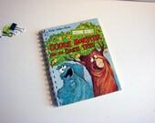 Cookie Monster Notebook / Sesame Street Notebook / Little Golden Book Notebook / Recycled Book Journal