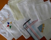 Mixed Lot of 9 Vintage Ladies Hankies