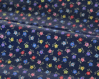 4268 - Cath Kidston Confetti Daisy (Dark Blue) Oilcloth Waterproof Fabric - 28 Inch (Width) x 17 Inch (Length)