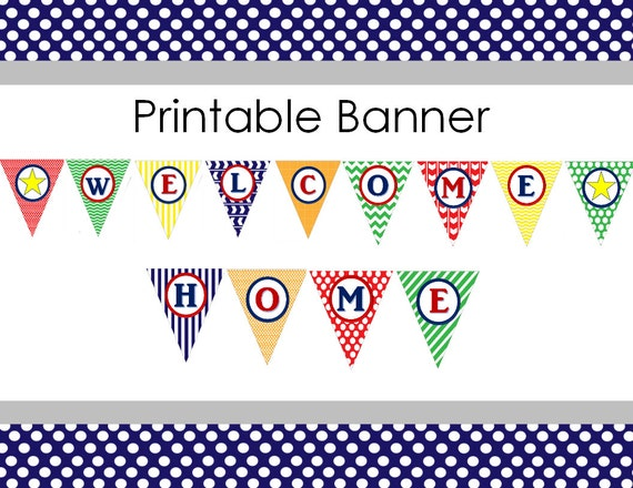 It is an image of Delicate Welcome Home Banner Printable