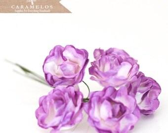 18 Lavender paper flowers