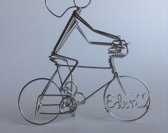 Personalized Bike Rider Sculpture or Cake Topper